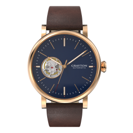 78354_4_e_grayton_002_f - MINIMALIST BLUE DIAL AUTOMATIC WATCH OPEN HEART & BROWN LEATHER STRAP