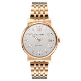 s.8-36-016_f_1 - WOMEN'S AUTOMATIC WATCH WHITE DIAL & IP ROSE GOLD BRACELET