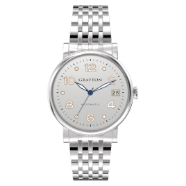 s.8-36-031_f - WOMEN'S AUTOMATIC WATCH WHITE SILVER DIAL & STAINLESS STEEL BRACELET