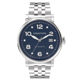 s.8-44-005-dr_f - MEN'S AUTOMATIC WATCH BLUE DIAL & STAINLESS STEEL BRACELET